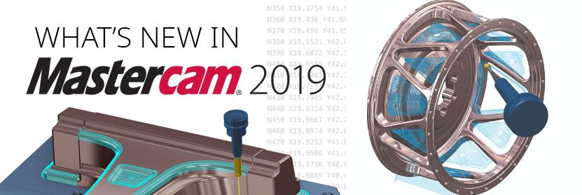 Mastercam 2019 của CNC Software Inc nhiều cải tiến với các tính năng tự động hóa phay đa trục.