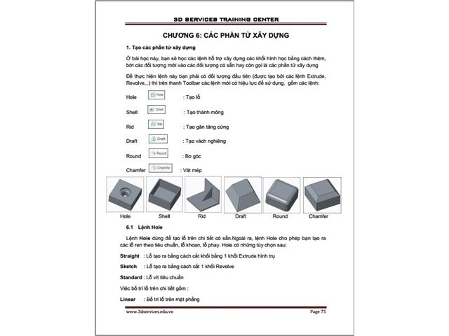 Sách hướng dẫn thiết kế cơ bản trên Creo Parametric 3 4 5